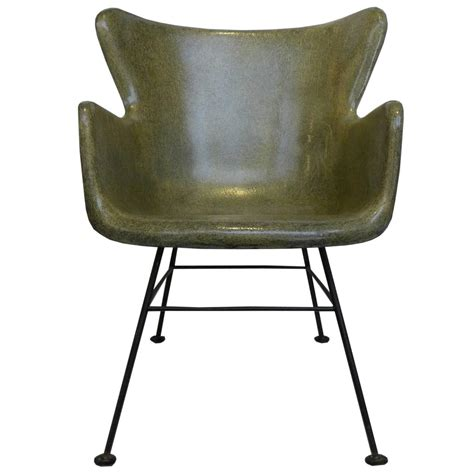 wingback fiberglass chair by peabody for selig