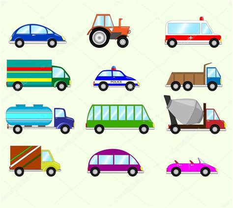 Illustration Of Different Types Vehicles.