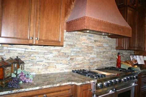 Layered Stone Backsplash : Granite Countertops And Tile Backsplash Ideas