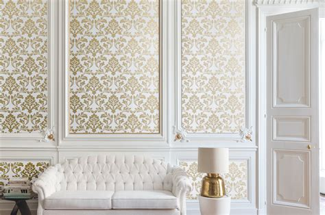 feature wall design ornate wallpaper options home