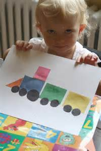 Shape Train Craft for Preschoolers
