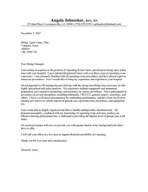 cover letter examples resumes nursing