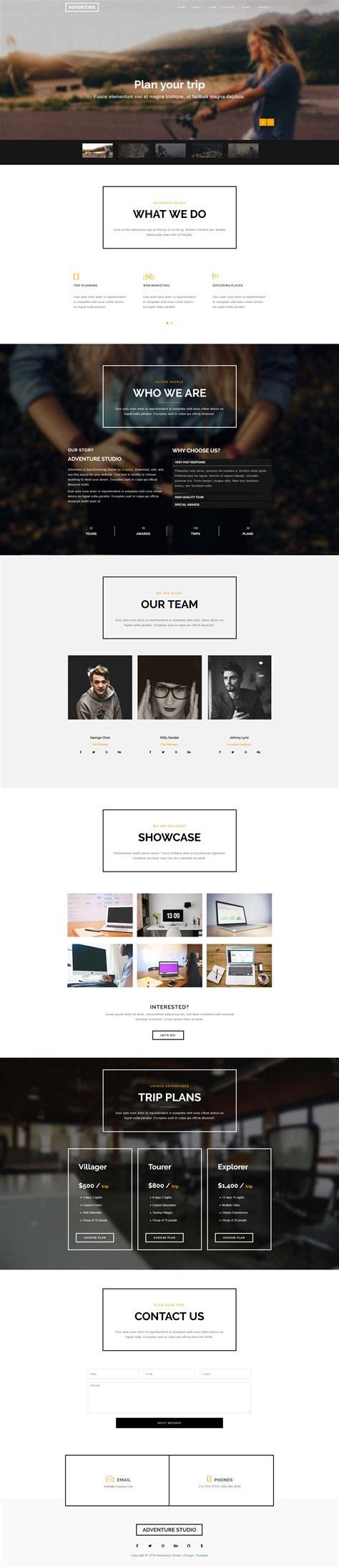 Adventure Bootstrap Theme Free Html Css  Ee  Templates Ee