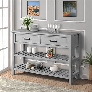 Console, Table, For, Entryway, Sideboard, Wooden, Sofa, Table, With, Storage, Drawers, Cabinets, And, Bottom