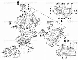 Arctic Cat Side By Side 2009 Oem Parts Diagram For Crankcase Assembly