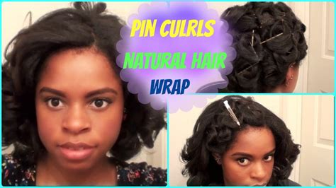 Pin Curl Hair Wrap (Flat Ironed Hair) YouTube