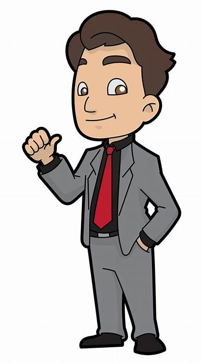 Cartoon Businessman Svg Easygoing Wikimedia Commons