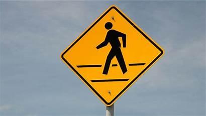 Crosswalk Sign Road Pedestrian Struck Crossing Chapel