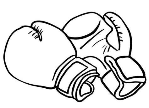 Bokshandschoenen Kleurplaat by Boxing Gloves Clipart Best
