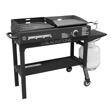 blackstone duo griddle charcoal grill combo