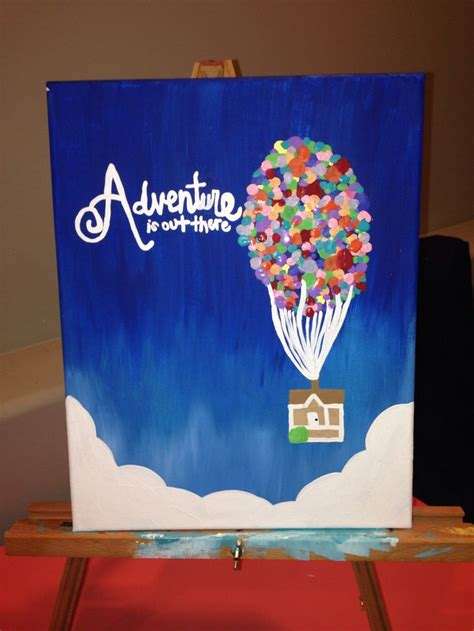 Painting Projects Pholia S Up Canvas Adventure Is Out There Diy Ideas Disney The O