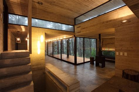 concrete glass  wood house buenos aires argentina