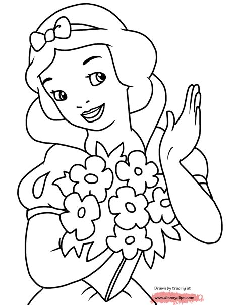 disney snow white printable coloring pages disney