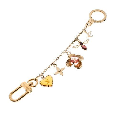 louis vuitton bijou sac chaine bee fleur enamel gold tone bag charm  sale  stdibs
