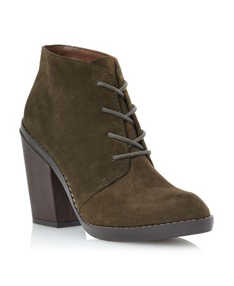 steve madden jayson heel desert boots  green lyst