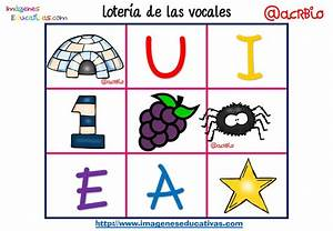Lotería Bingo de las vocales (11) Imagenes Educativas