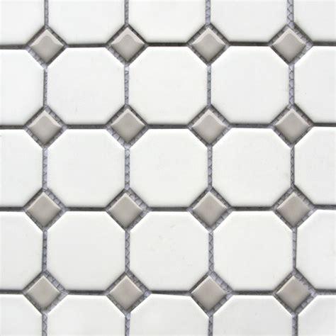 octagon and gray dot tile bathroom gray