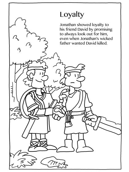 David En Jonathan Kleurplaat by David And Jonathan Preschool Coloring Page Coloring Page