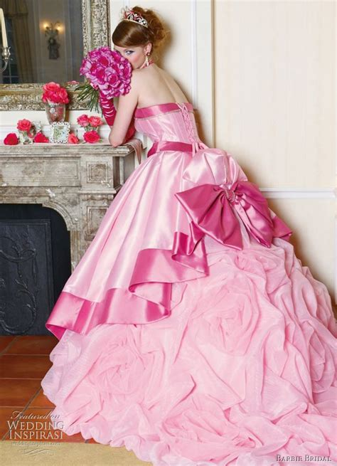 bridesmaid dresses pink big pink wedding dress designs for