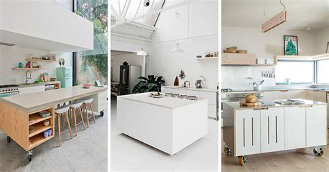 examples  kitchens  movable islands