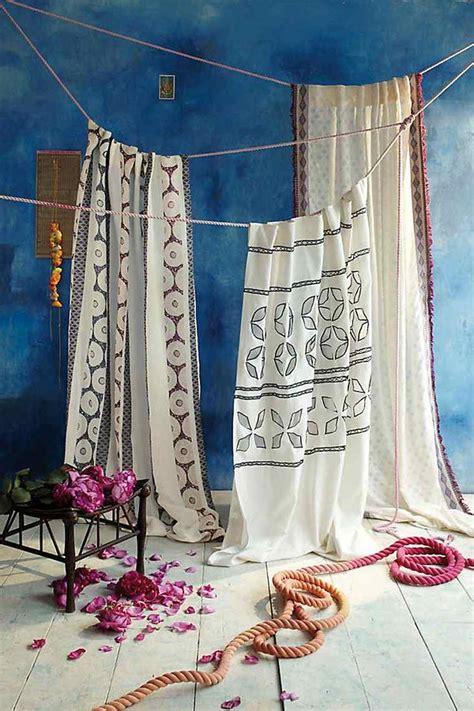 rideau exotique pour  decor boho chic ethnique ou naturel