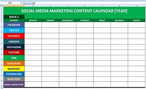 social media calender template excel 2014 editorial With social media planning calendar template