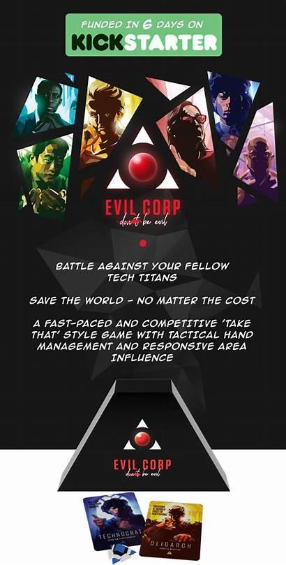 Evil Kickstarter Boardgame Games Billionaires Corp Newbie