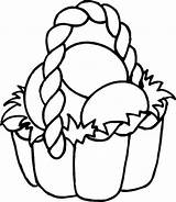 Easter Basket Coloring Pages Easy Colouring Printable Print Eggs Preschoolers Decorate sketch template