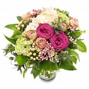 bouquet rond dans les tons roses blancs et vert With affiche chambre bébé avec bouquet de fleurs guadeloupe