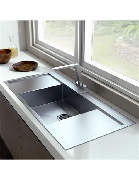 sided kitchen sinks zenuno 45 i f single bowl sink side drainers 6927