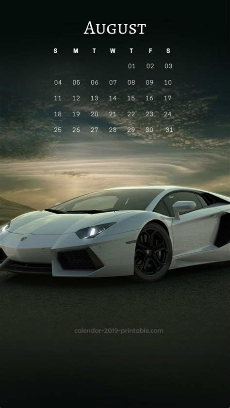august  iphone calendar wallpapers  images