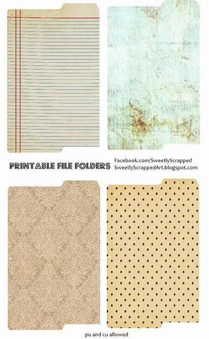 Journal Printable Folders Junk Cards Printables Pages