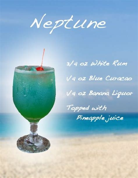 mixed drink recipes with pictures neptune mixed drink
