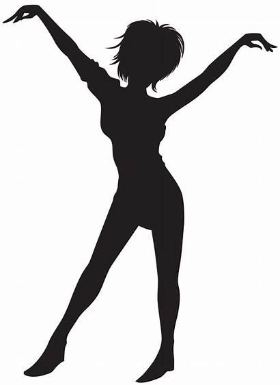 Silhouette Clip Dancing Clipart Silhouettes Dance Woman