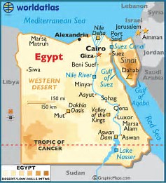 Image result for map of egypt