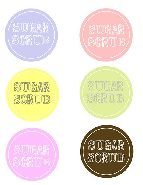 sugar scrub   labels  girl creative