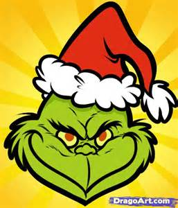 Easy Grinch Drawing