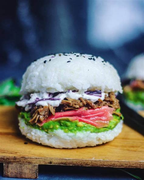 mouthwatering sushi burger    hottest food trend