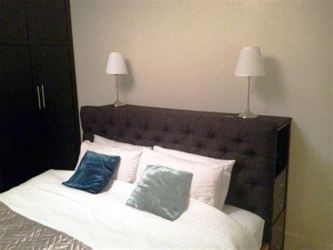 hauteur des meubles haut cuisine tête de lit avec rangement