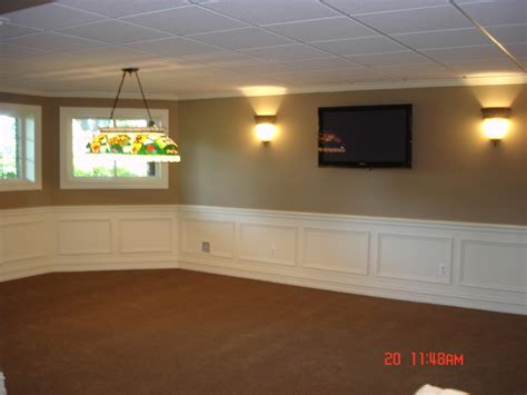 bathroom wainscoting ideas finished basement