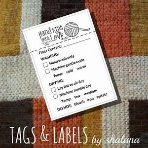 Care instruction printable pdf cards for knitters quothand for Hand knit labels