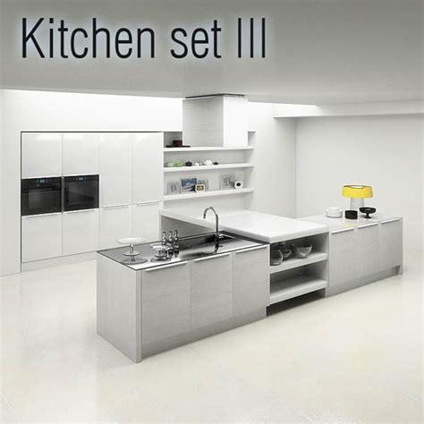 kitchen design 3d model kitchen set p3 3d model hum3d 4381