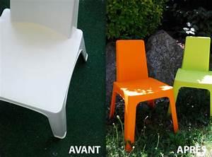 Meuble Plastique Exterieur : peindre salon de jardin la peinture qui change tout ~ Teatrodelosmanantiales.com Idées de Décoration
