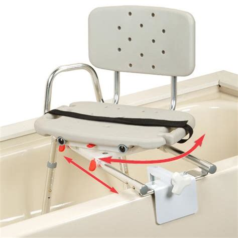 sliding shower chair tub mount bath transfer bench with