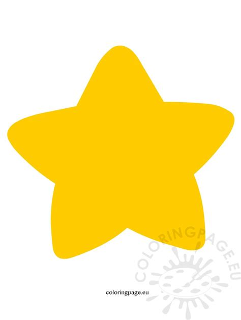 yellow star coloring page