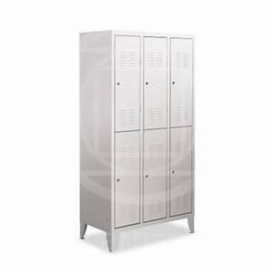 Arredamento spogliatoio, armadietto metallico, armadio 3 posti