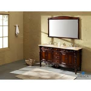 fresca laberge antique double sink bathroom vanity with