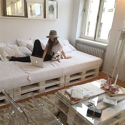 meubles chambre ado lit en palette 50 idées pour fabriquer un lit en palette