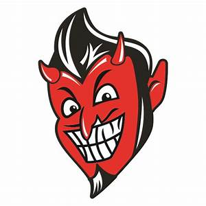 Devil Retro Cuttable Svg Design