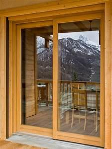 Baie Coulissante Bois : menuiserie may baie coulissante bois sybaie ~ Premium-room.com Idées de Décoration